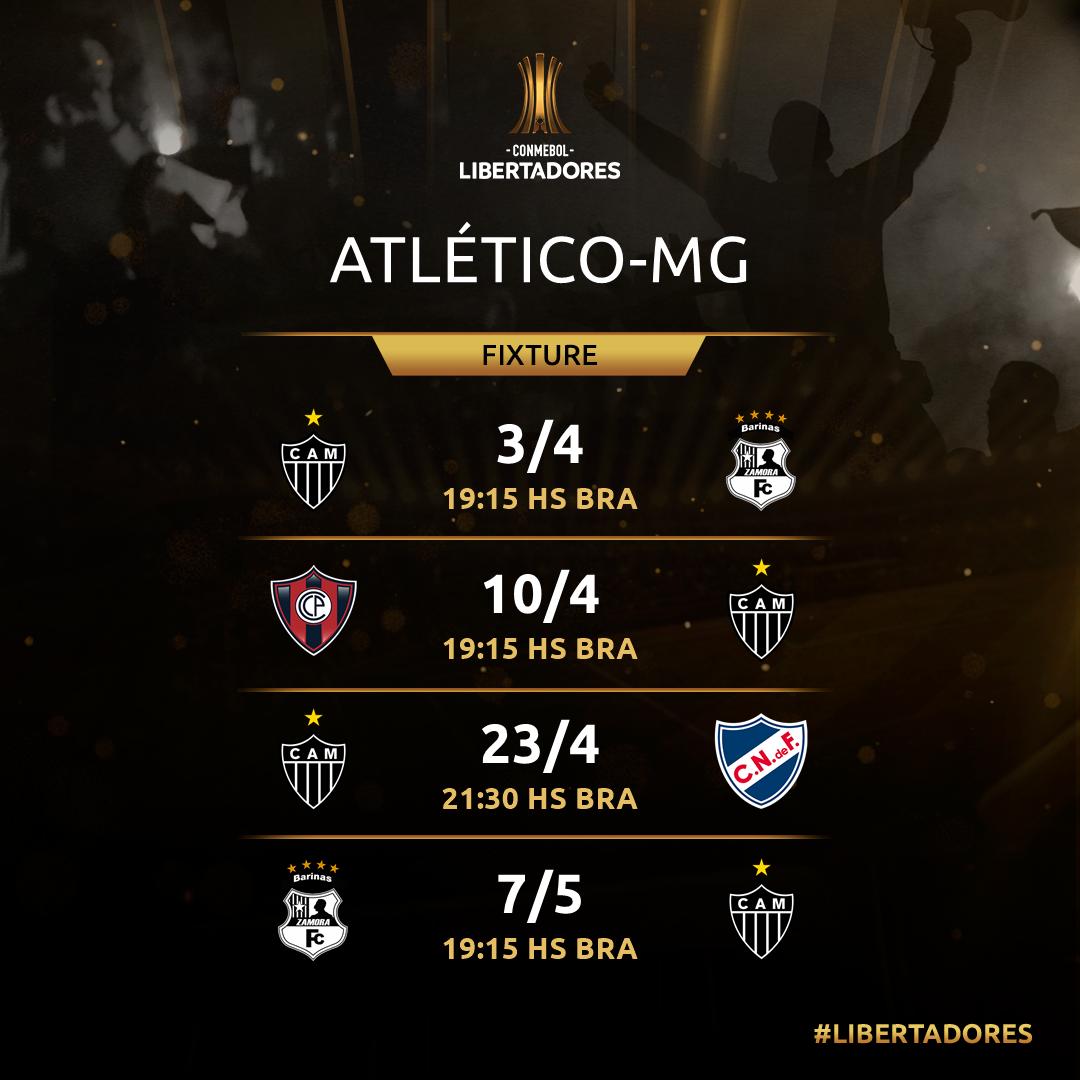 Atletico-MG próximos jogos Libertadores