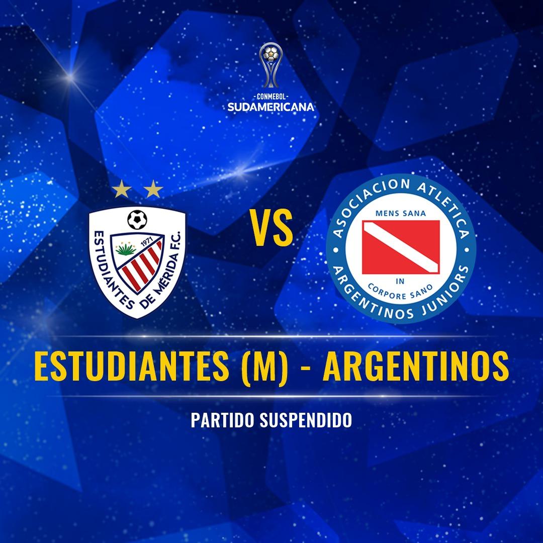 Placa partido suspendido Estudiantes Argentinos