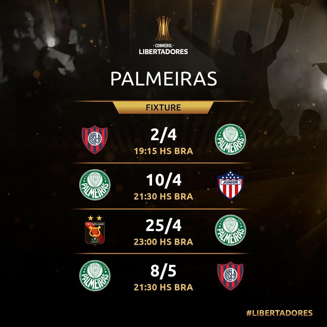 Jogos do Palmeiras - Libertadores