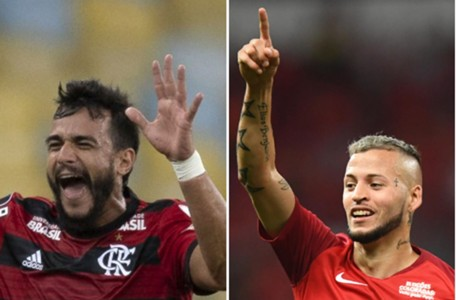 Libertadores Flamengo Internacional Henrique Dourado Nico Lopez