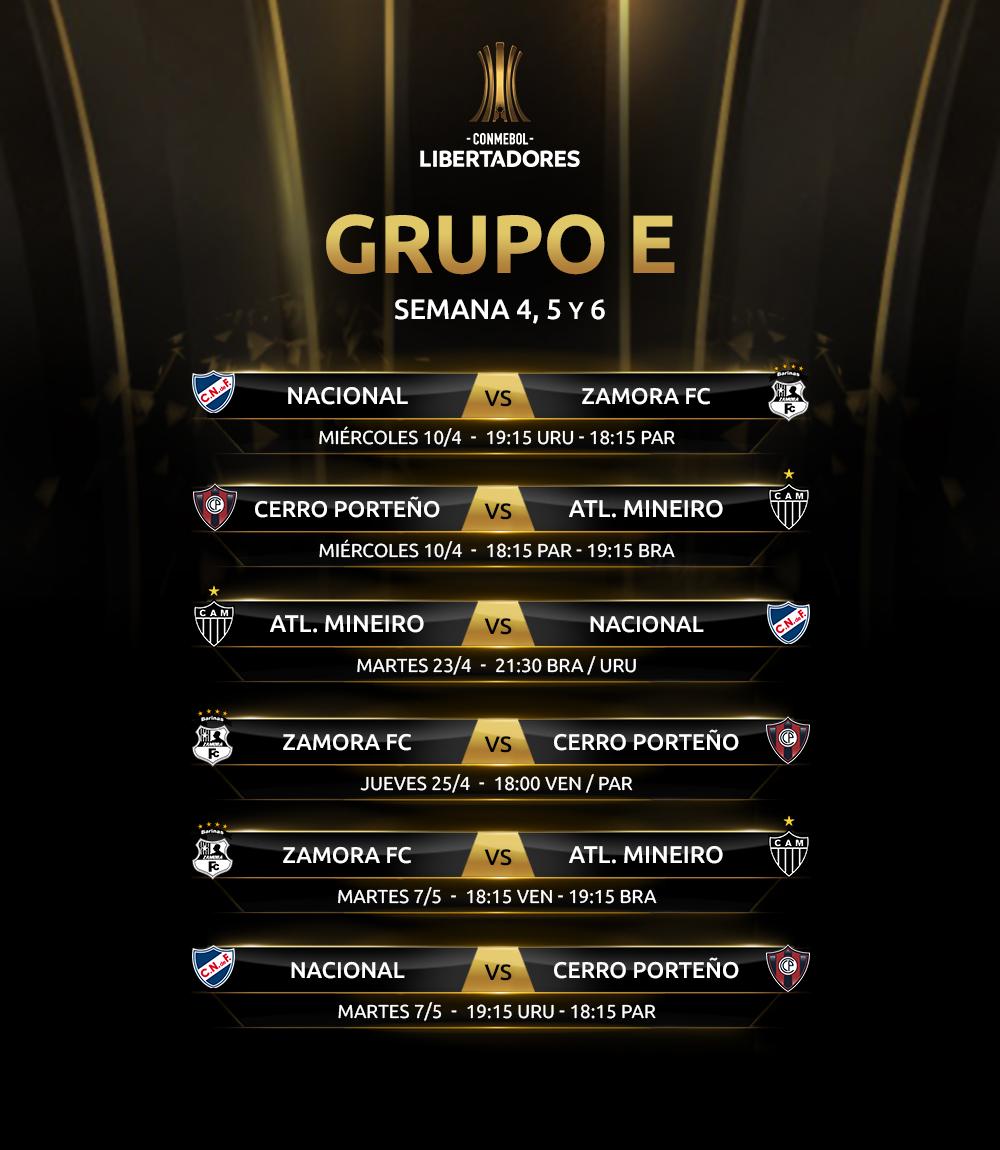 Fixture Grupo E
