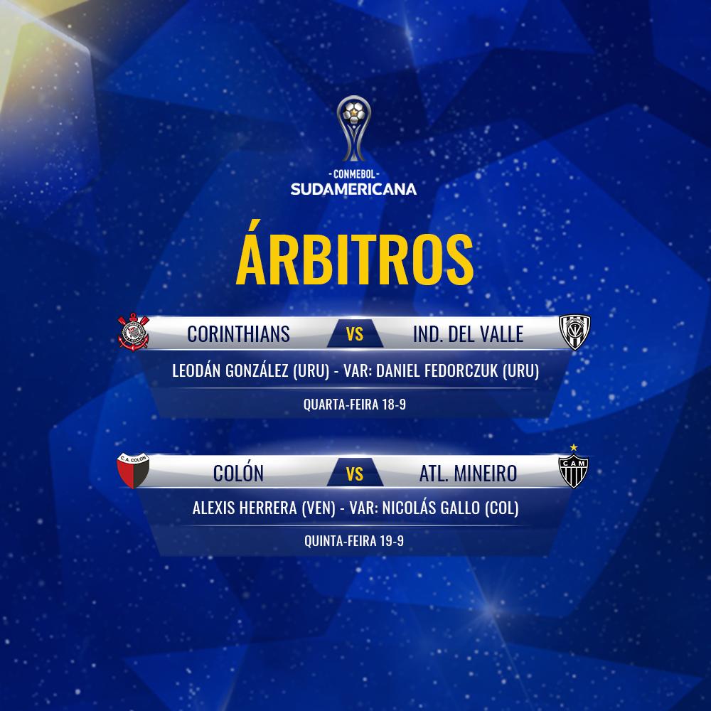 Arbitragem semifinais ida Sul-Americana 2019