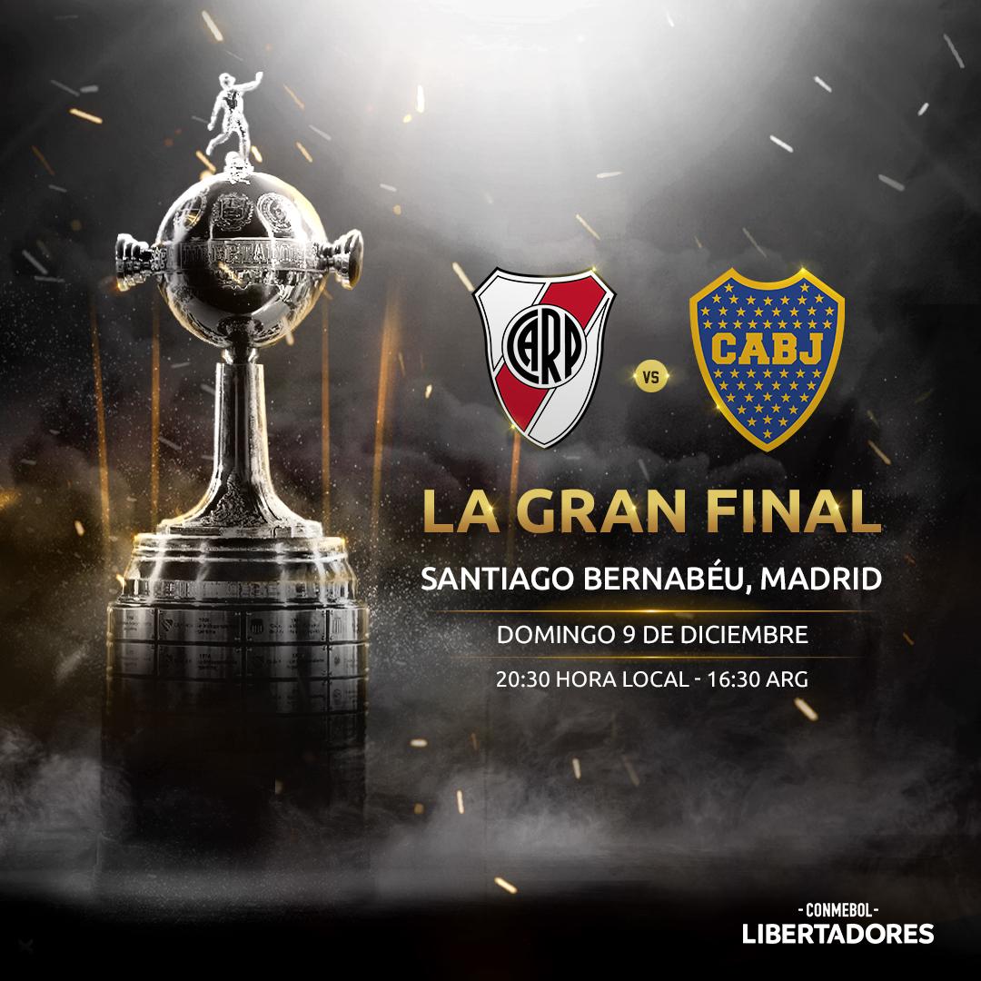 Anuncio River Boca Real Madrid Santiago Bernabeu