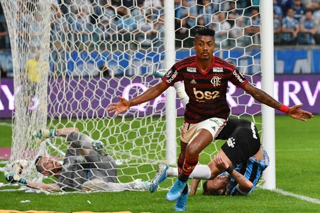 Bruno Henrique Flamengo - Gremio semifinal Libertadores