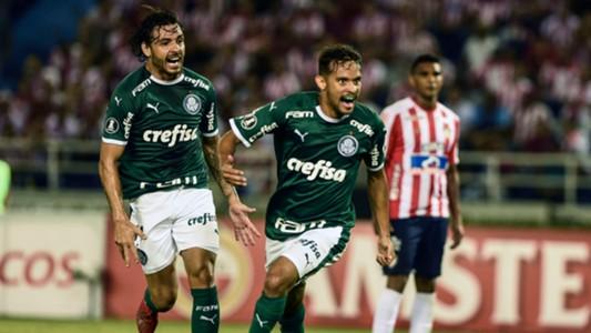 AFP Junior Palmeiras Gol Gustavo Scarpa Copa Libertadores