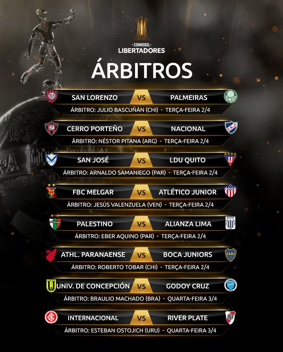 Árbitros 1 - Libertadores - Rodada 3