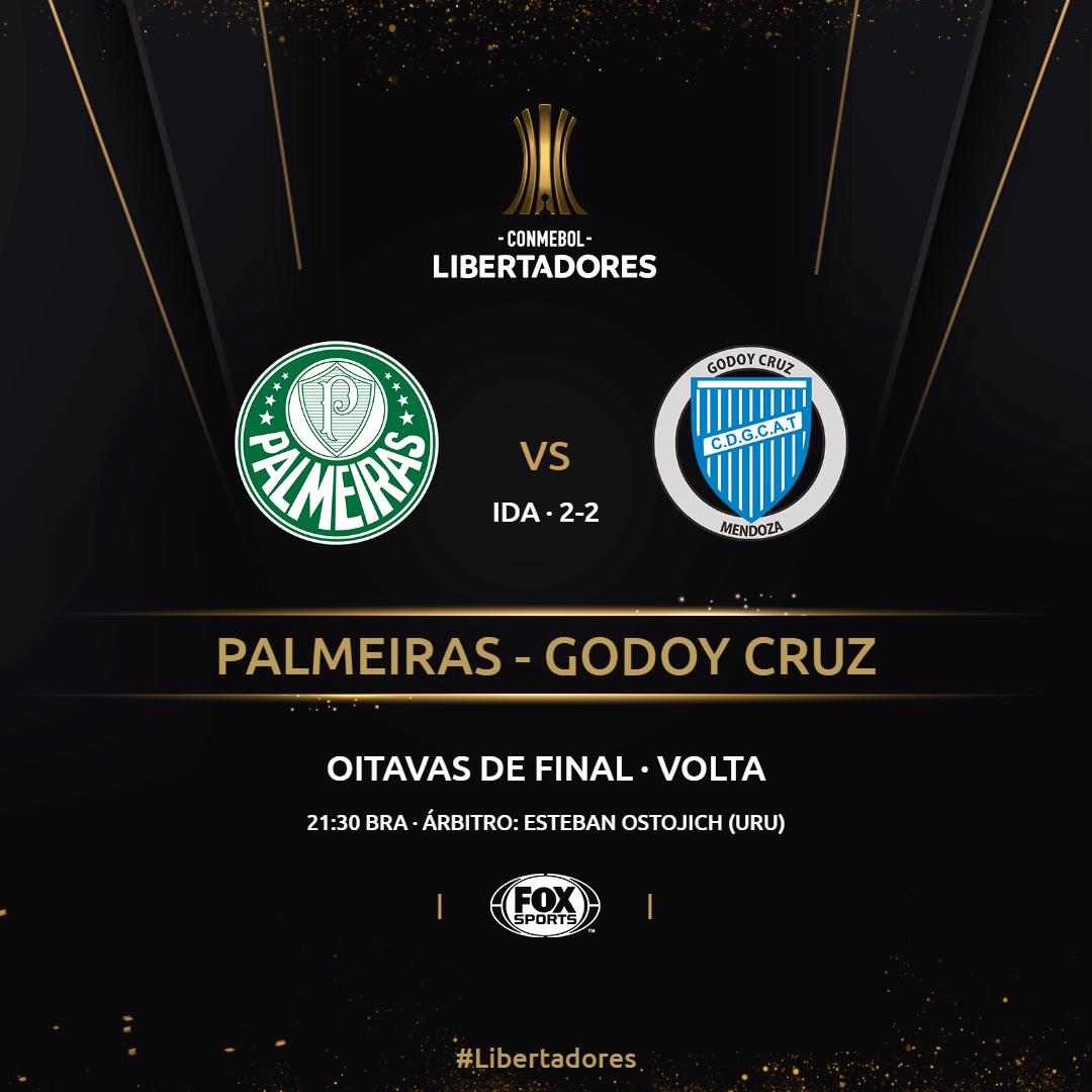 Palmeiras x Godoy Cruz - placa