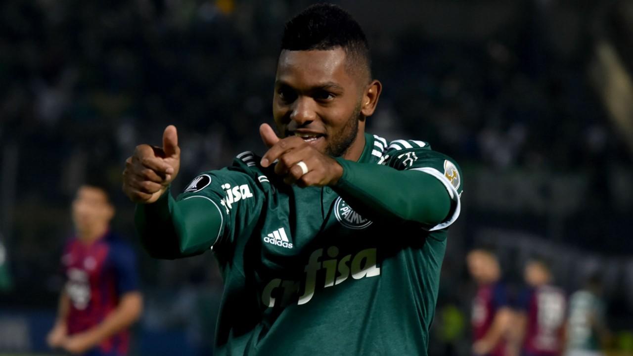 AFP Cerro Porteño-Palmeiras Copa Libertadores Miguel Borja