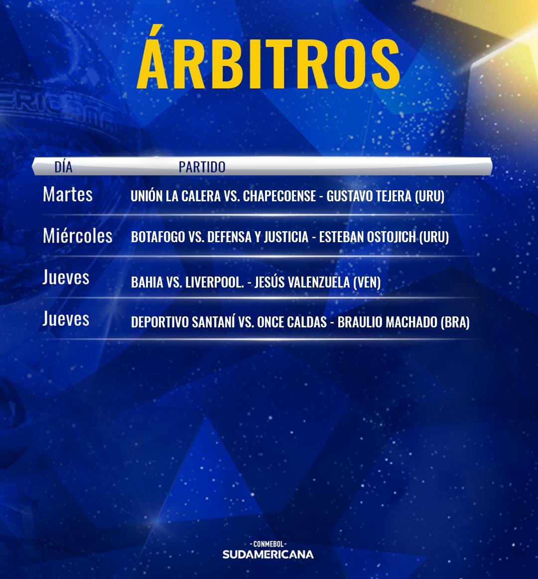 Arbitros Copa Sudamericana 2019