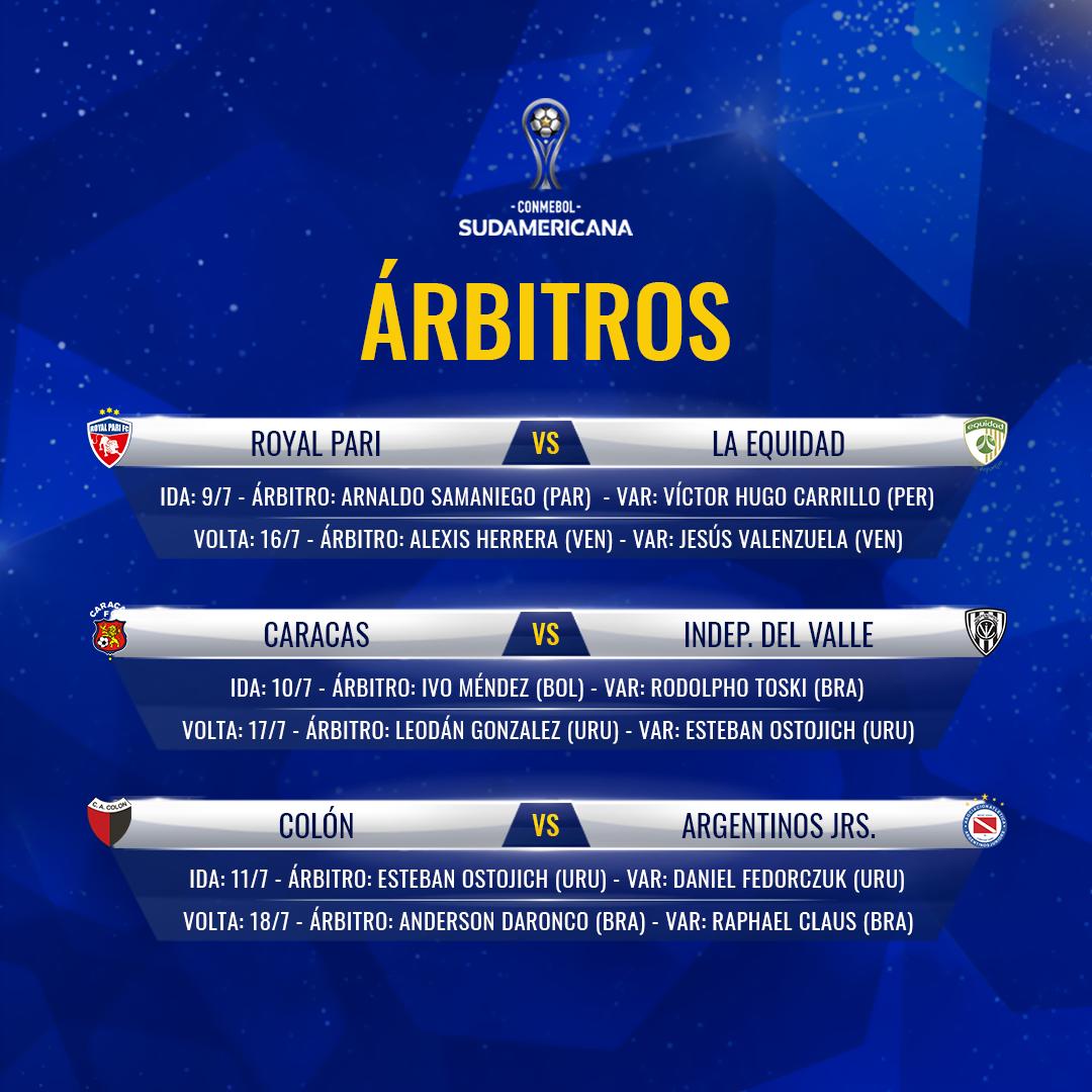 Árbitros oitavas de final Sul-Americana