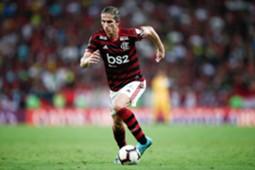 Filipe Luis pelo Flamengo na Libertadores