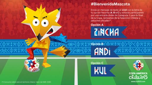 Mascotte Copa America 2015 renard