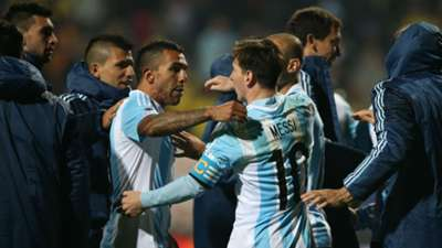 Argentina Colombia penalty shootout gallery Messi Tevez