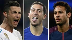 Cristiano Ronaldo Eden Hazard Neymar