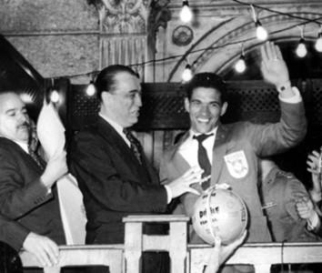 Garrincha e Juscelino 1958