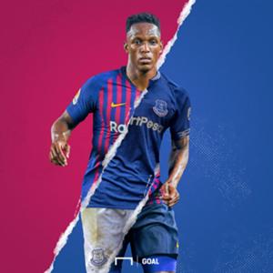 NO GALLERY Yerry Mina FC Everton FC Barcelona