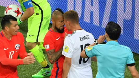Arturo Vidal Joshua Kimmich Chile Germany Confederations Cup