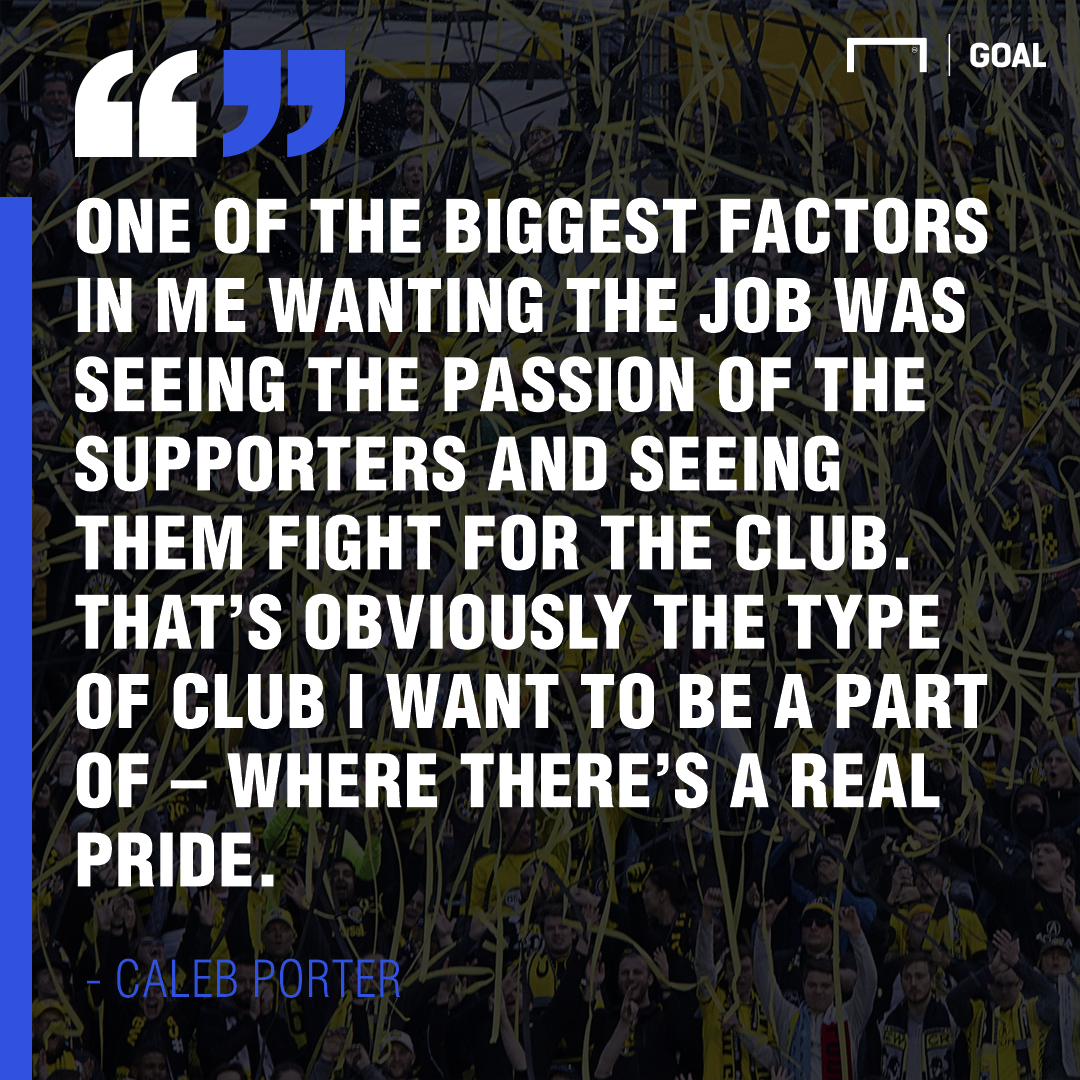 Caleb Porter on Crew supporters