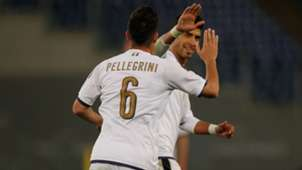 Lorenzo Pellegrini Italy U21 maglia bianca