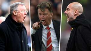 Alex Ferguson Louis van Gaal Pep Guardiola hairdryer treatment