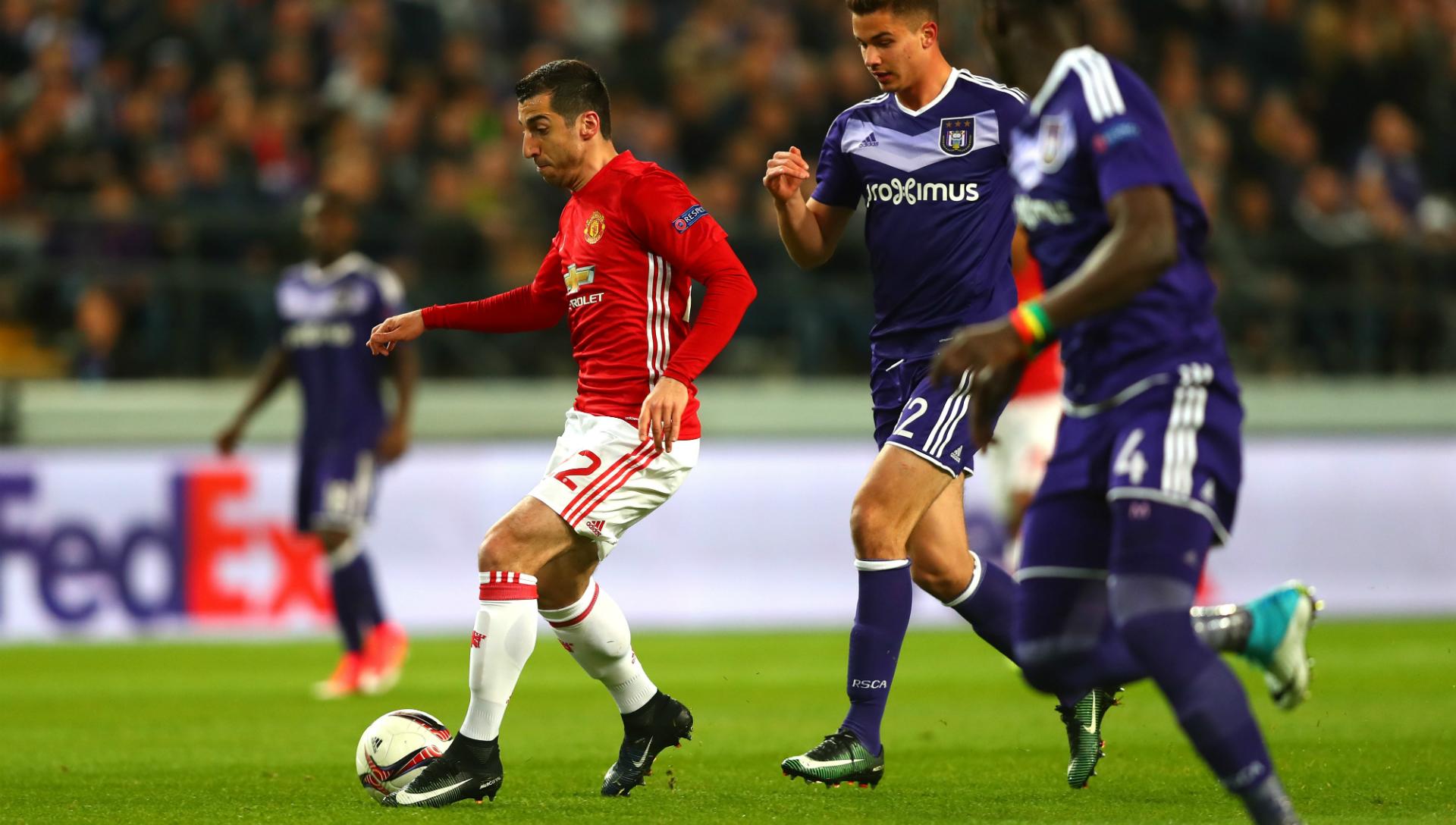 Henrikh Mkhitaryan Anderlecht Manchester United