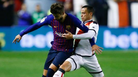 Gerard Pique Raul de Tomas Barcelona Rayo Vallecano La Liga 03112018