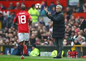 Ashley Young Jose Mourinho Manchester United Reading