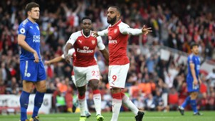 arsenal leicester - premier league - lacazette celebration - 11082017