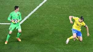 Thibaut Courtois, Zlatan Ibrahimovic, Sweden Belgium