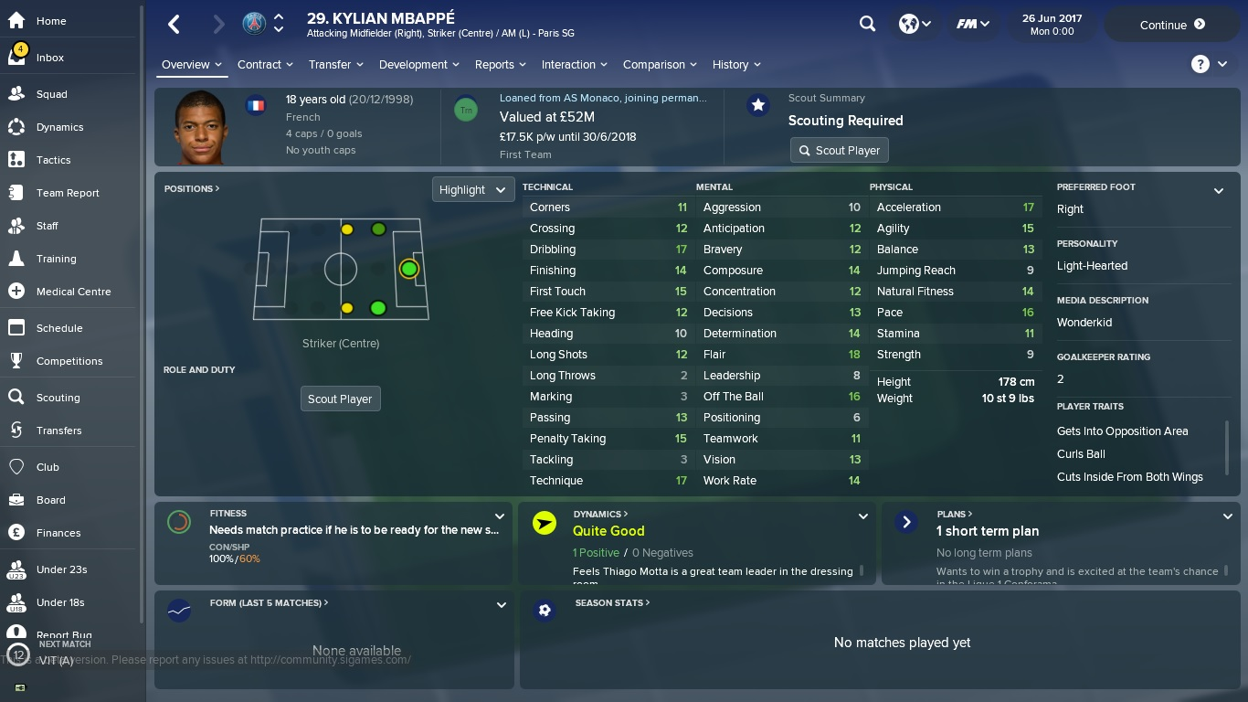 football manager 2019 talents