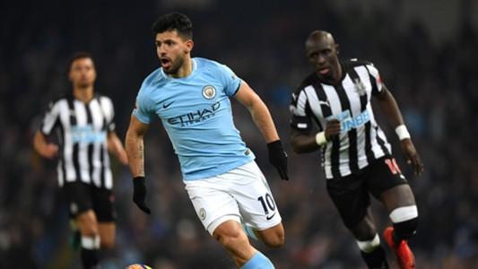 Sergio Aguero Manchester City Newcastle United