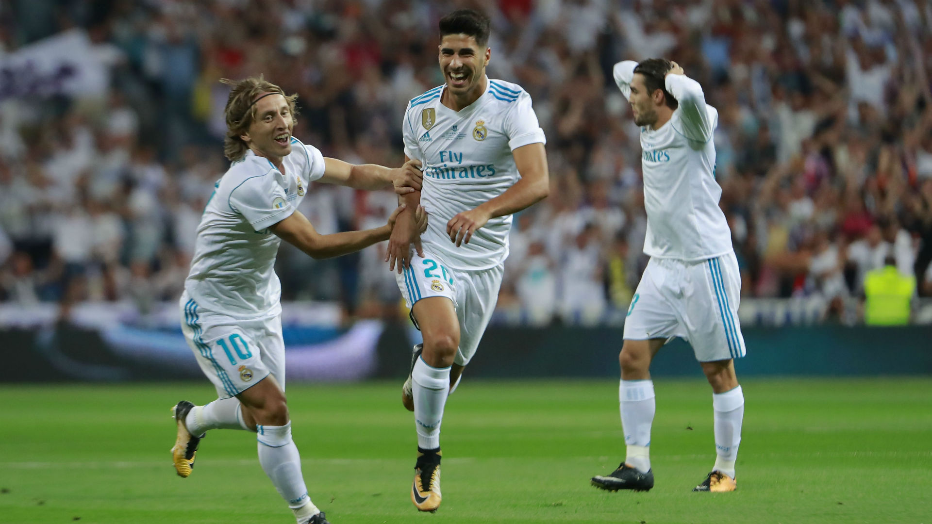 real barcelona - modric asensio kovacic - spain supercup - 2017