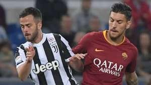 Lorenzo Pellegrini Roma Miralem Pjanic Juventus 2017-18