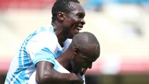 Ezekiel Okare celebrates goal with Maurice Odipo of Sofapaka