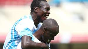 Ezekiel Okare celebrates goal with Maurice Odipo of Sofapaka