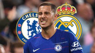 Eden Hazard Chelsea Real Madrid composite
