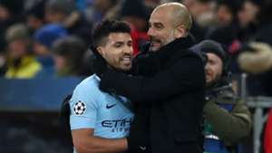 Sergio Aguero Pep Guardiola Manchester City Champions League