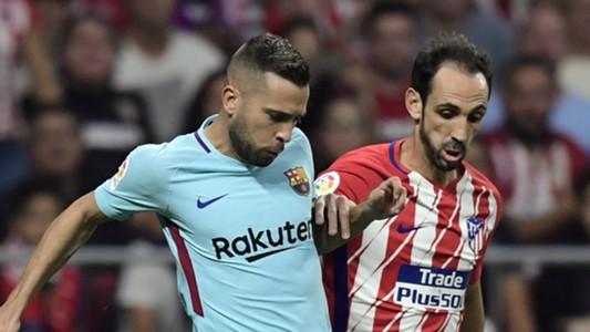 Juanfran Jordi Alba Atletico Madrid Barcelona 14102017