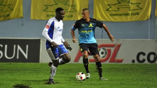 Rhulani Manzini and Wayne Arendse - Mamelodi Sundowns Chipppa United 14022017