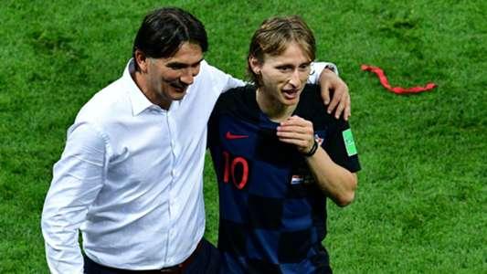 Luka Modric Zlatko Dalic Croatia World Cup 2018