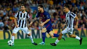 Miralem Pjanic Lionel Messi Paulo Dybala Barcelona Juventus Champions League 12092017