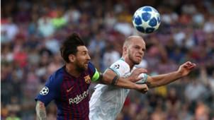 Jorrit Hendrix, Lionel Messi, Barcelona - PSV, Champions League 09182018