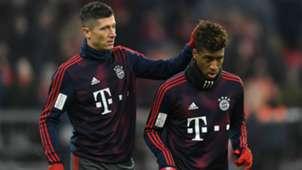 Robert Lewandowski Kingsley Coman Bayern Munchen