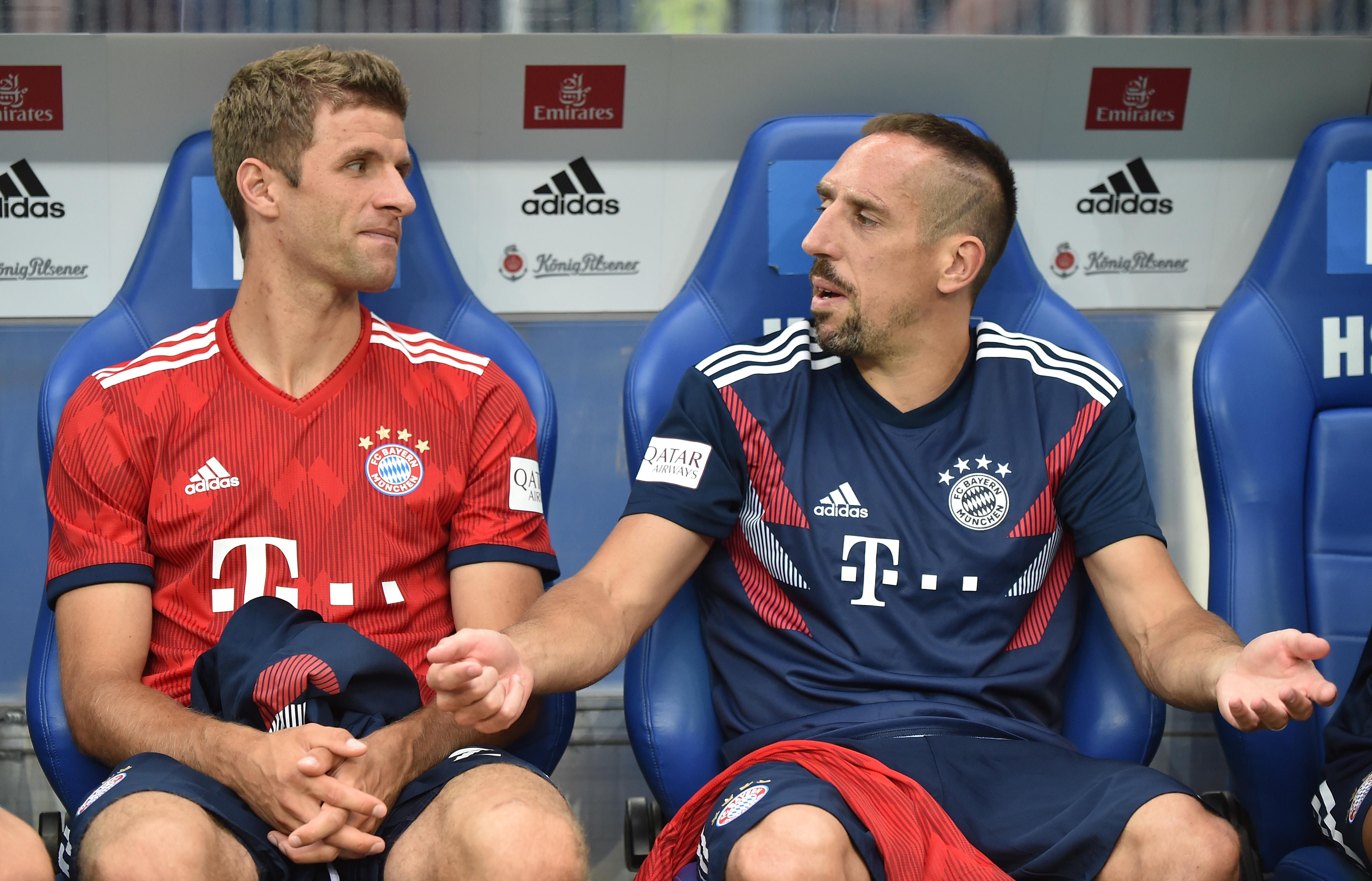 Franck Ribery Thomas Muller Bayern Munchen