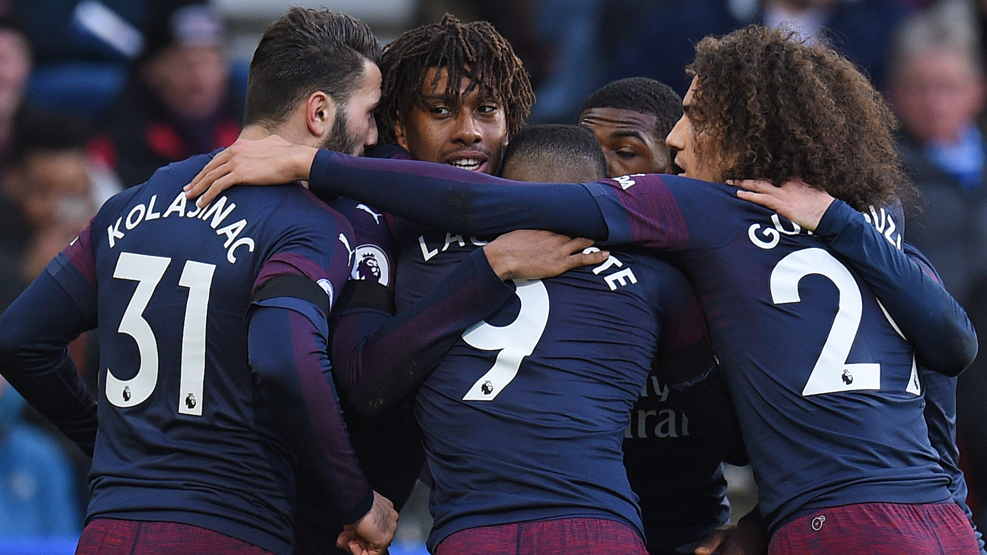 Alex Iwobi Arsenal Celebrating 2019