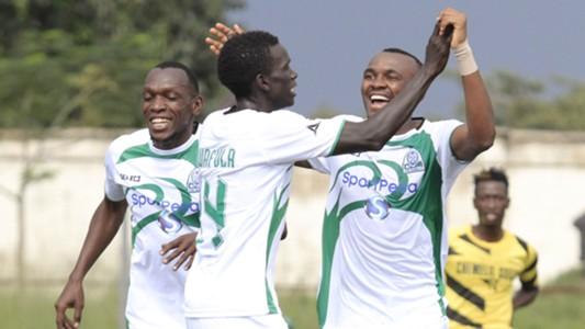 Gor Mahia striker Jacques Tuyisenge and Meddie Kagere