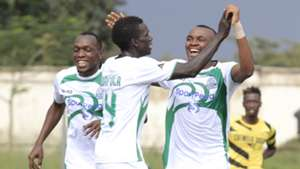 Gor Mahia striker Jacques Tuyisenge and Meddie Kagere