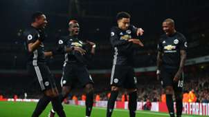 Jesse Lingard Ashley Young Paul Pogba Arsenal Manchester United Premier League