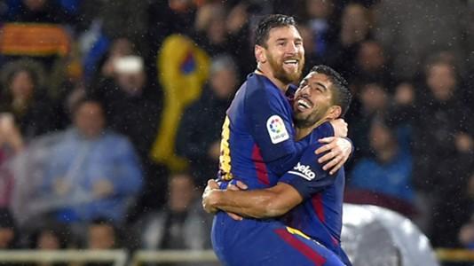 Lionel Messi Luis Suarez Barcelona Real Sociedad