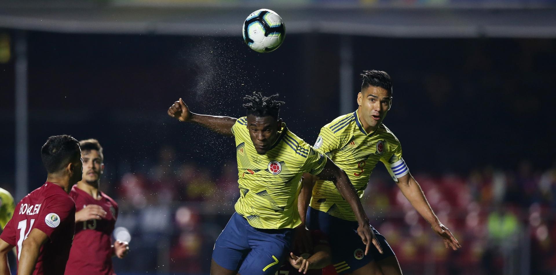 Duván Zapata & Radamel Falcao gol Colombia Qatar Copa América 2019